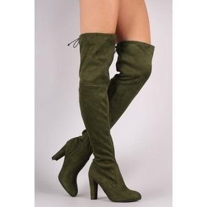 fdb09b6e35b3 Wild Diva Lounge Suede Over The Knee Boots